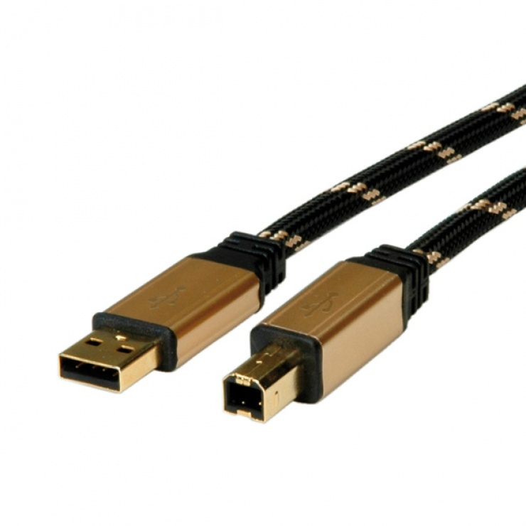 Imagine Cablu imprimanta USB 2.0 A - B T-T 1.8m, Roline 11.02.8802
