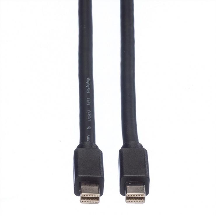 Imagine Cablu Mini Displayport la Mini Displayport T-T 2m Negru, Roline 11.04.5640-2