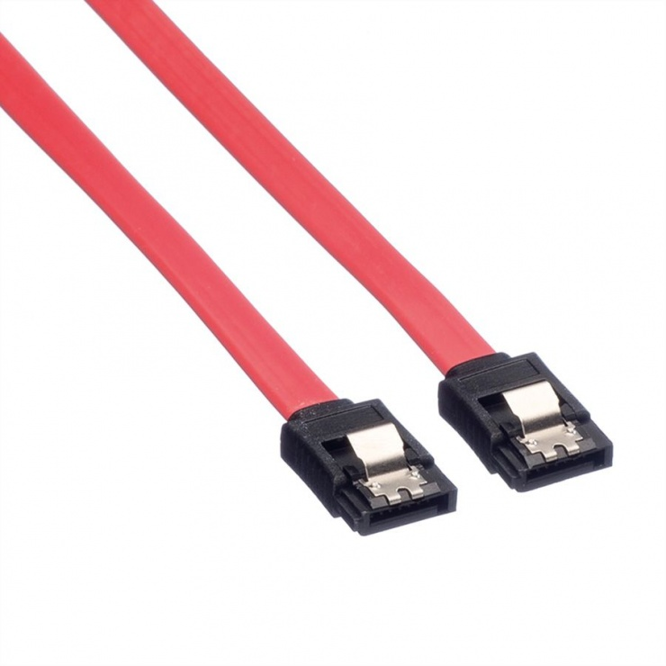 Imagine Cablu date SATA III 6 Gb/s drept/drept 0.5m Rosu, Value 11.99.1550