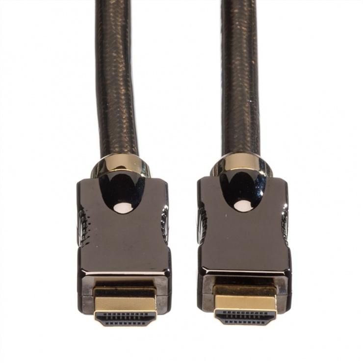 Imagine Cablu HDMI 4K Ultra HD cu Ethernet v2.0 T-T 3m, Roline 11.04.5682-3