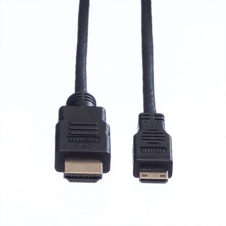 Imagine Cablu HDMI la mini HDMI-C T-T v1.4 2m, Value 11.99.5580-1