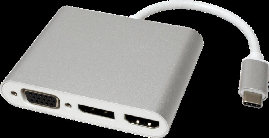 Imagine Adaptor USB tip C la VGA/HDMI/Displayport T-M, Roline 12.03.3230