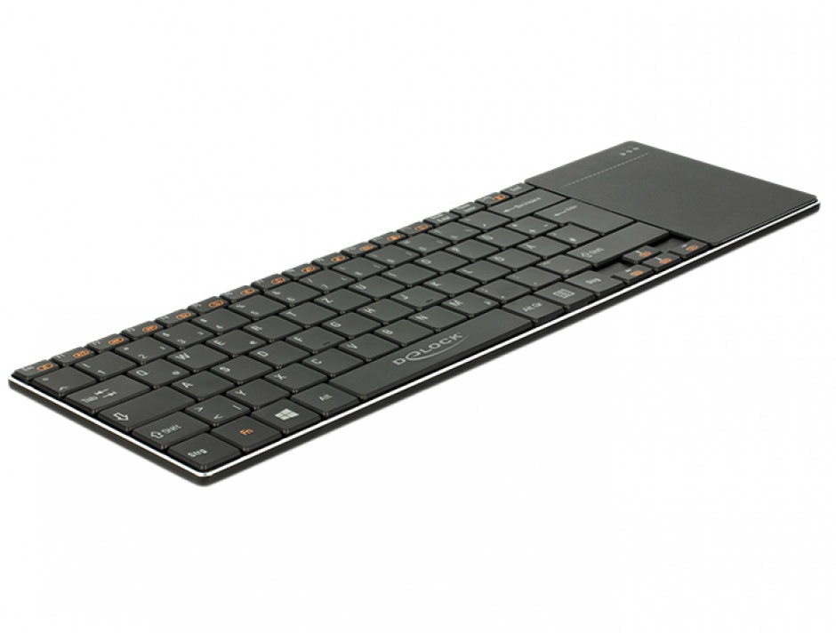 Imagine Tastatura wireless pentru Smart TV si PC Windows cu Touchpad 6 mm, Delock 12454