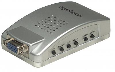 Imagine Convertor VGA la S-Video/RCA (PC to TV), Manhattan 150095