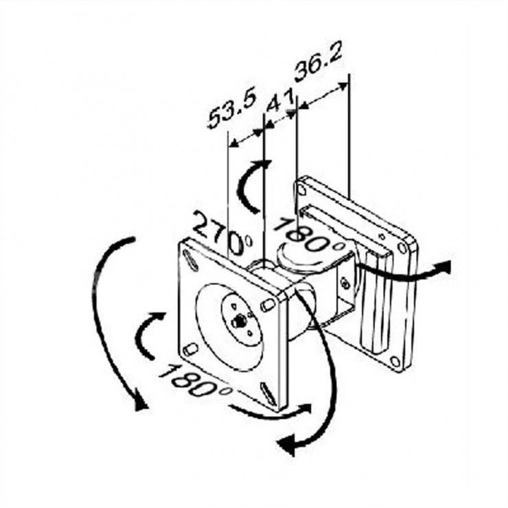 Imagine Suport LCD montare perete VESA 75/100, Value 17.99.1121