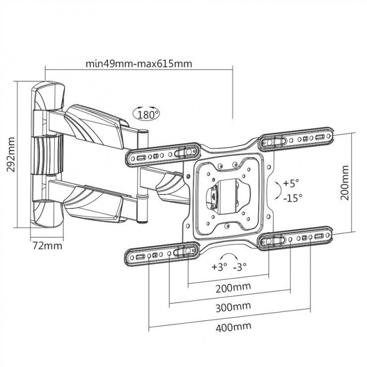 Imagine Suport perete LCD/TV 4 brate, Value 17.99.1144