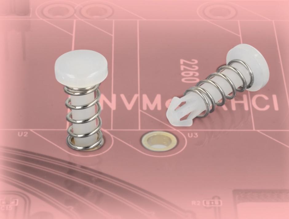 Imagine Snap Rivet (suruburi) pentru radiator PCB albe set 10 buc, Delock 18272