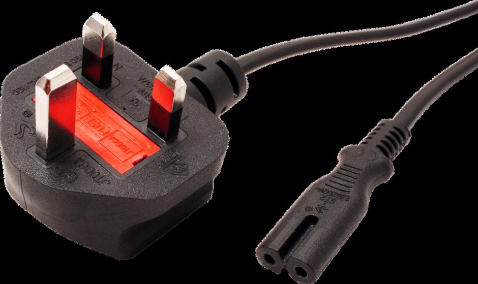 Imagine Cablu de alimentare UK la C7 2 pini 2.5A 1.8m Negru, Value 19.99.2017-1