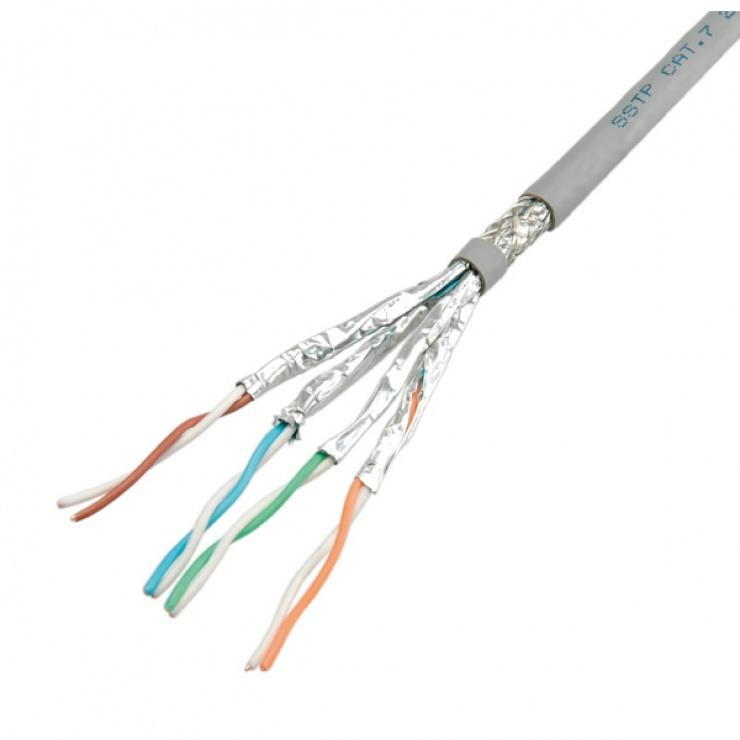 Imagine Cablu S-FTP (PiMF) Cat.7, solid, 100m, Roline, 21.15.0001-5