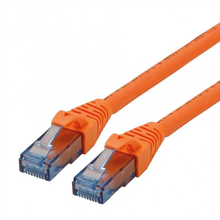 Imagine Cablu retea UTP Cat.6A Component Level LSOH Portocaliu 1m, Roline 21.15.2771