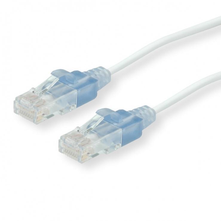 Imagine Cablu UTP cat 6A Slim Alb 2m, Roline 21.15.0972