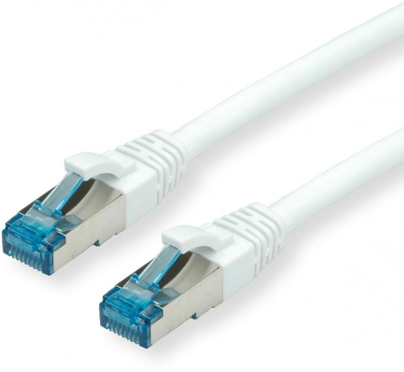 Imagine Cablu de retea S/FTP Cat.6A alb 15m, Value 21.99.1978