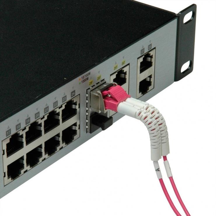 Imagine Cablu fibra optica LC-LC OM4 cablu flexibil (unghi) 5m, Value 21.99.8794