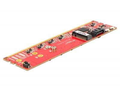 Imagine Adaptor DDR3 la Dual SATA 6Gb/s RAID Module - 2 x M.2 NGFF, Delock 62622