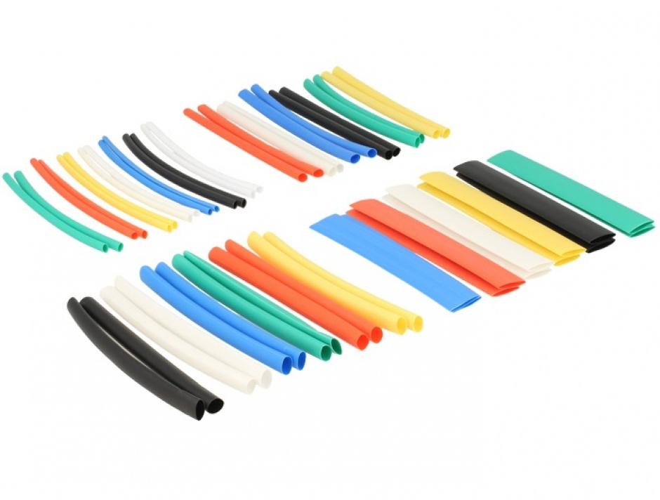 Imagine Tuburi termocontractabile colorate 50 buc/set, Delock 86279