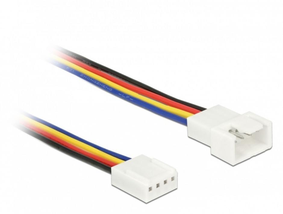Imagine Cablu prelungitor alimentare ventilator PWM 4 pini T-M 50cm, Delock 85362