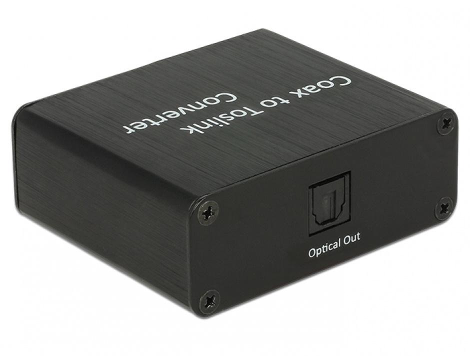 Imagine Convertor Digital Audio Coaxial la TOSLINK, Delock 62790-1