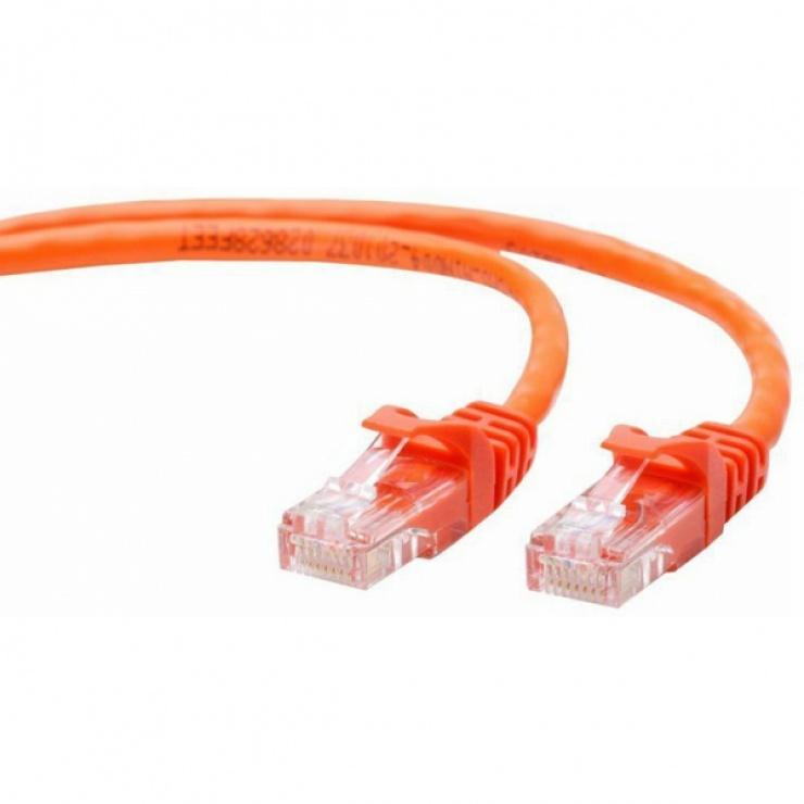 Imagine Cablu UTP Cat.5e 0.25m Portocaliu, Gembird PP12-0.25M/O