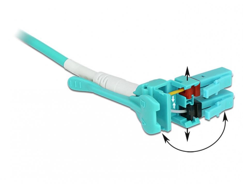 Imagine Cablu fibra optica LC - LC Multimode OM3 Uniboot 3m, Delock 85129