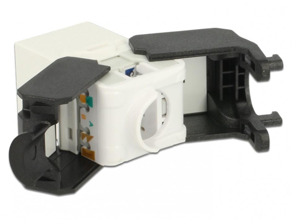 Imagine Modul Keystone RJ45 la LSA Cat.6A UTP Alb, Delock 86266
