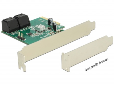 Imagine PCI Express Hybrid cu 4 x SATA 6 Gb/s interne RAID, Delock 89395