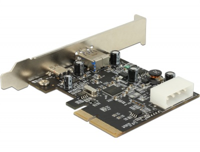 Imagine PCI Express cu 1 x USB tip C 3.1 + 1 x USB-A 3.1 Gen 2, Delock 89417
