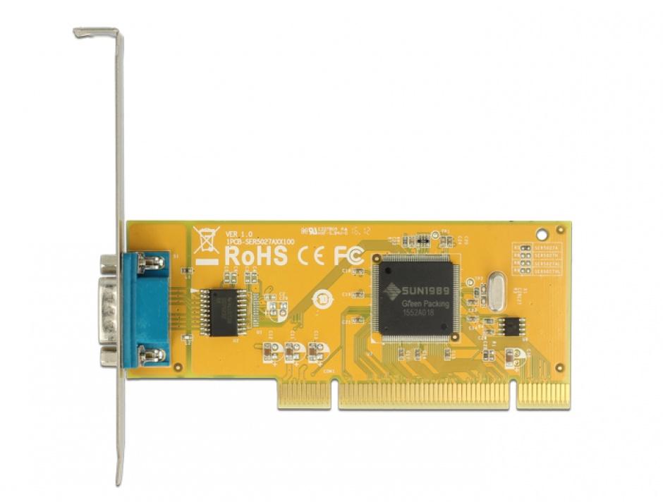 Imagine PCI cu 1 x Serial RS-232, Delock 89592-2