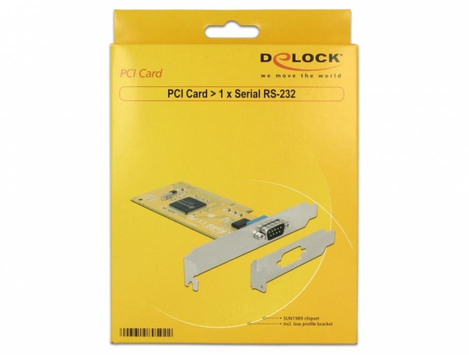 Imagine PCI cu 1 x Serial RS-232, Delock 89592-3