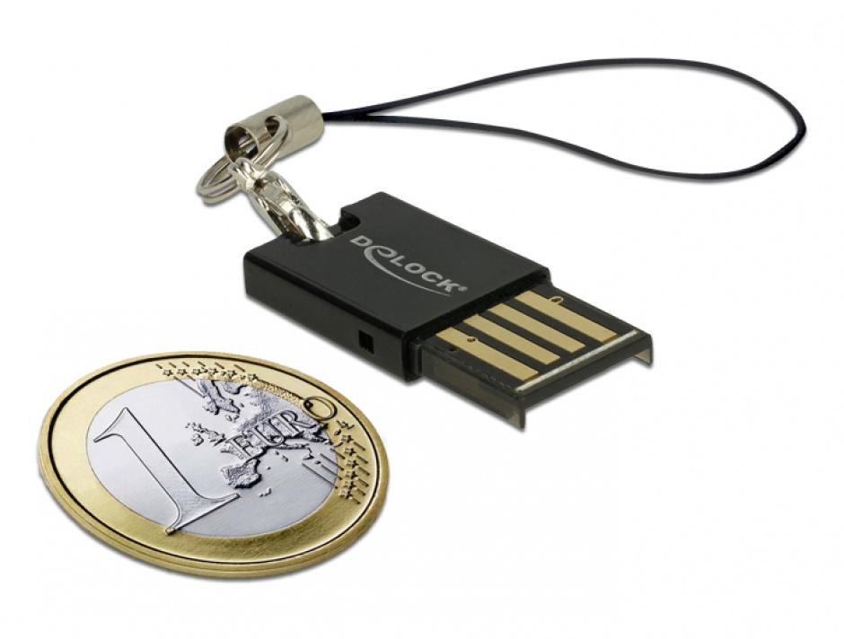 Imagine Cititor de carduri micro SD pe USB 2.0, Delock 91648-2