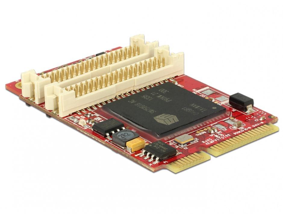 Imagine Mini PCIe I/O PCIe full size adaptor grafic pentru VGA / DVI / HDMI, Delock 95256