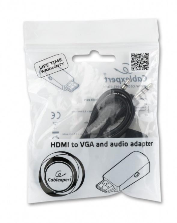 Imagine Adaptor HDMI la VGA T-M + audio, Gembird A-HDMI-VGA-02