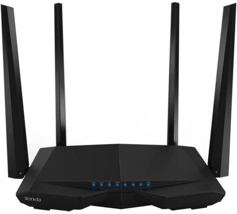 Imagine Router wireless 3 porturi AC 1200Mbps Dual-Band, 4 antene, TENDA AC6