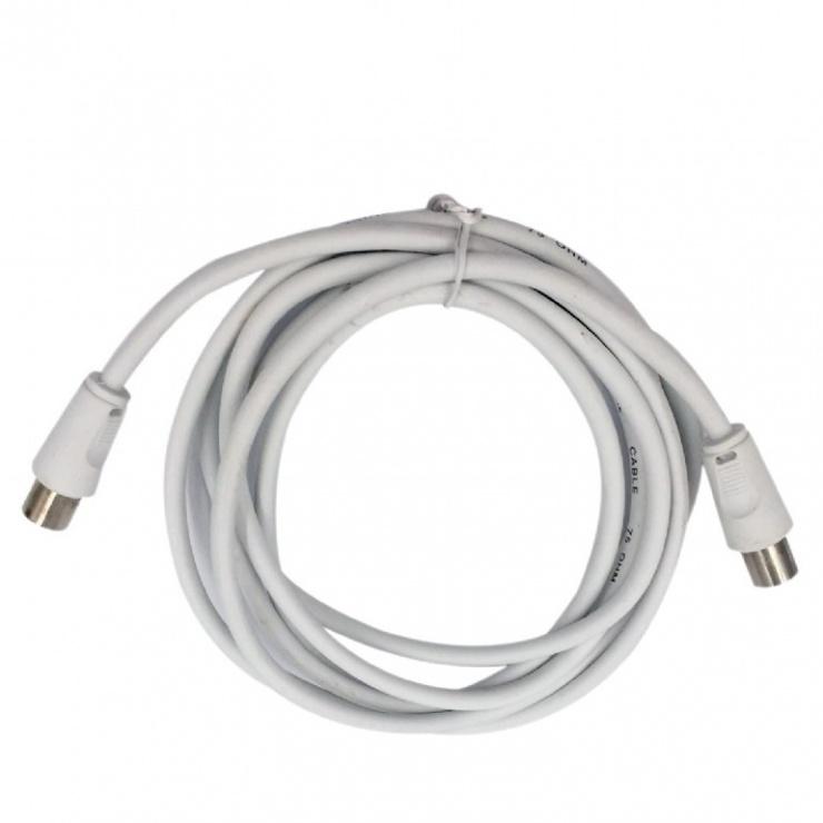 Imagine Cablu prelungitor antena coaxial T-M 3m alb, Gembird CCV-515-W-3M-1