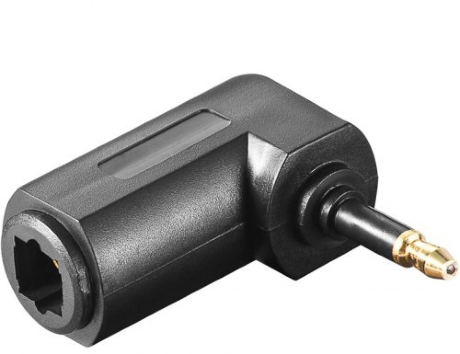 Imagine Adaptor audio digital optic Toslink la mini Toslink 3.5mm unghi, KJTOSRED11