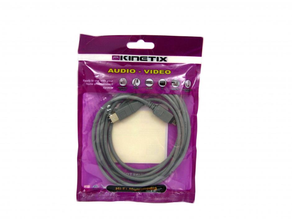 Imagine Cablu Firewire 4 pini la 6 pini 2m, KTCBLHE14033A