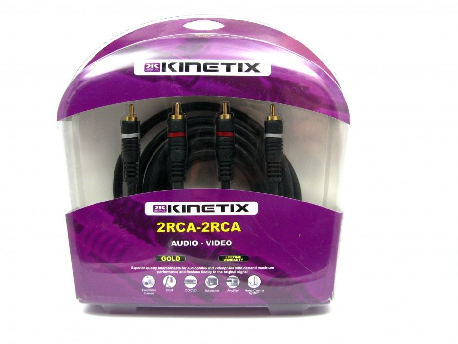 Imagine Cablu audio 2 x RCA la 2 x RCA T-T 3m, KTCBLHE17013