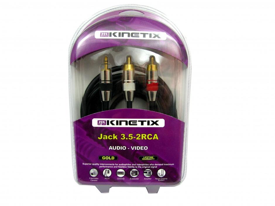 Imagine Cablu Jack 3.5mm la 2 x RCA T-T 3m, KTCBLHE17054