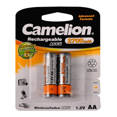 Imagine Acumulatori AA Ni-MH 2700mAh, Blister 2 buc, Camelion, NH-AA2700BP2