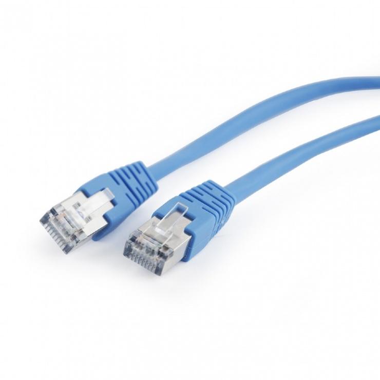 Imagine Cablu de retea FTP cat 5e 1m albastru, Gembird PP22-1M/B