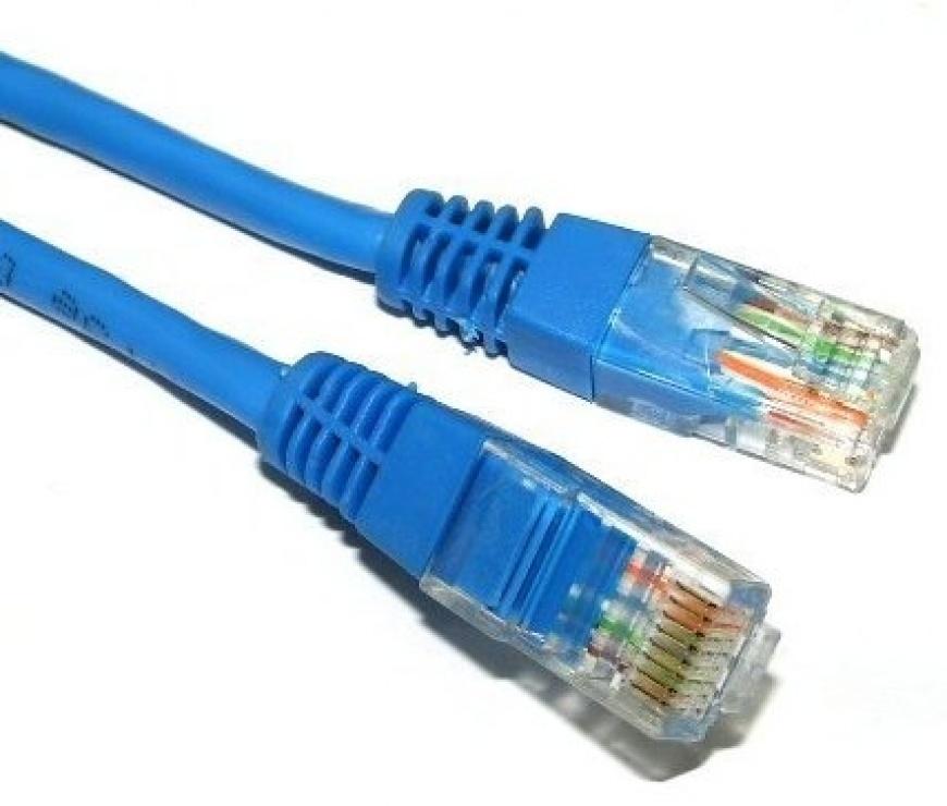 Imagine Cablu de retea UTP cat 5e 0.5m Albastru, Spacer SP-PT-CAT5-0.5M-BL