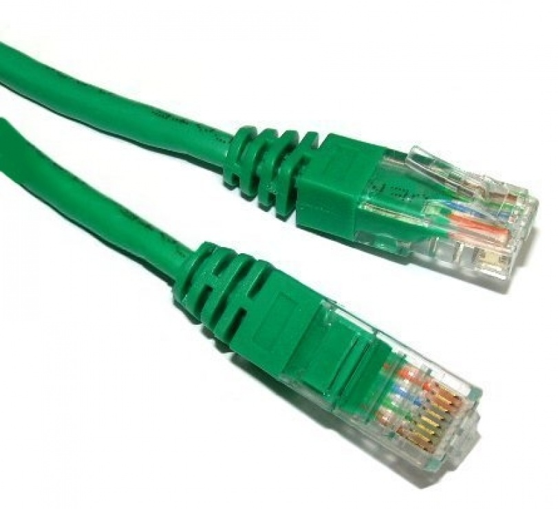Imagine Cablu de retea UTP cat 5e 2m Verde, Spacer SP-PT-CAT5-2M-G