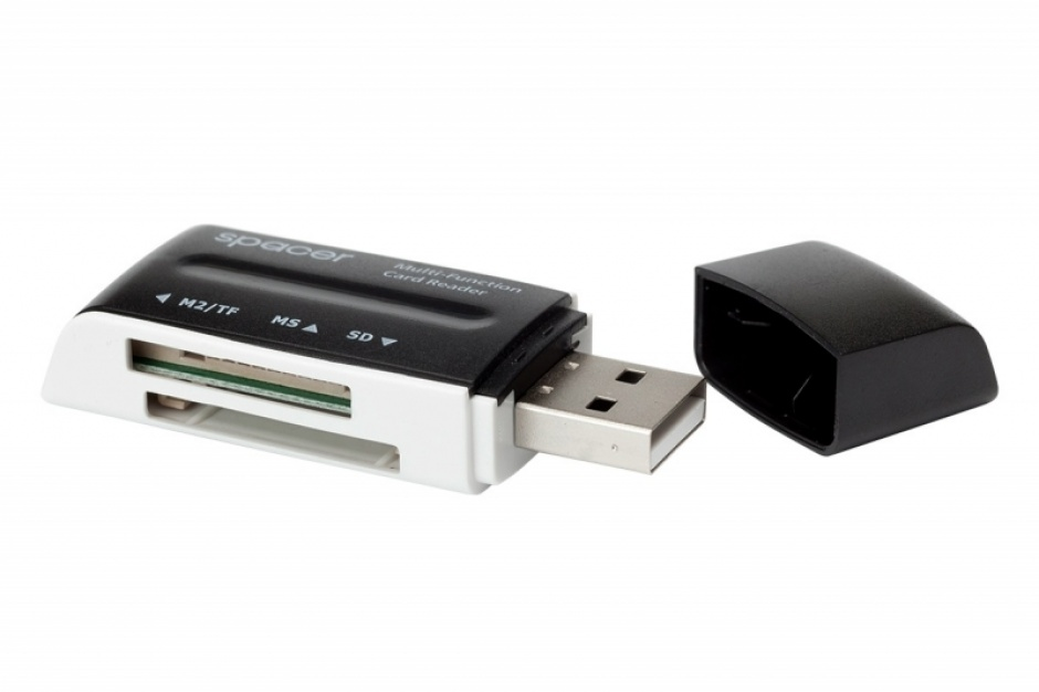 Imagine Cititor de carduri USB 2.0 46 in 1, Spacer SPCR-658