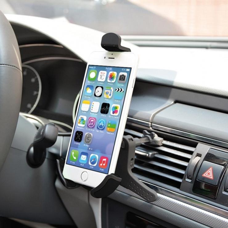 Imagine Suport auto pentru smartphone din ABS cu fixare la ventilator, Value 19.99.1051
