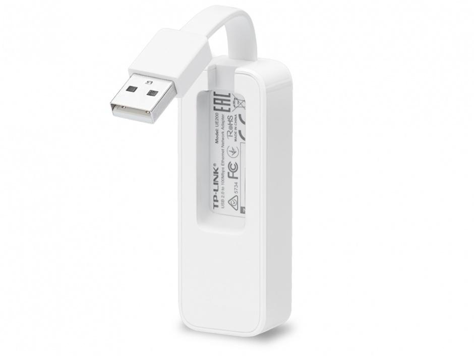 Imagine Adaptor retea USB 2.0 la retea 10/100 Mb/s, TP-LINK UE200-2