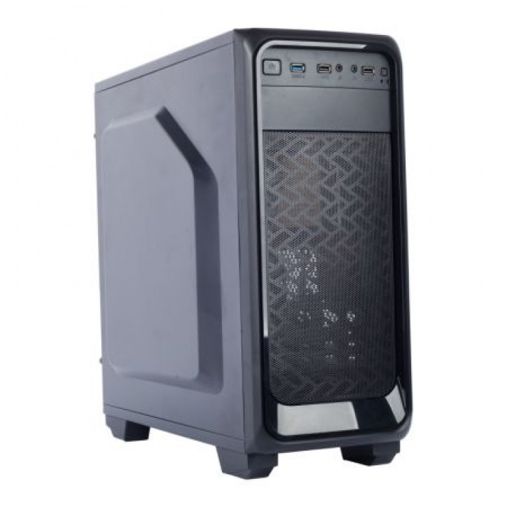 """Imagine CARCASA GAMING X2 """"DARK NIGHT"""" ATX, front USB & audio, suport 4x 120mm fan, black, SPIRE X2-T1612B/W-2U3-2BL"""