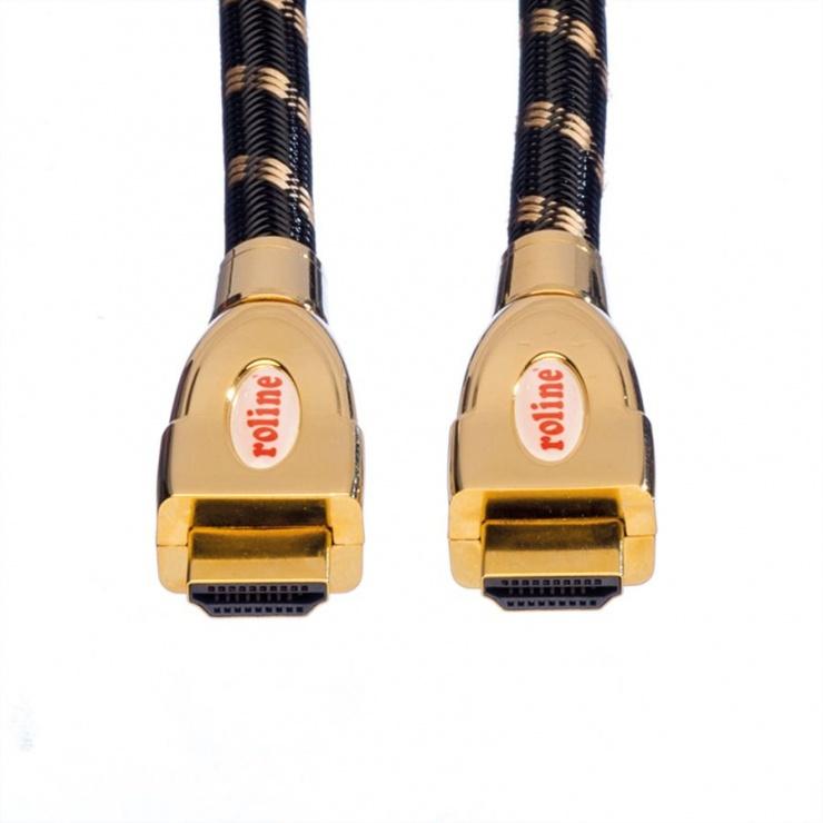 Imagine Cablu HDMI 4K GOLD Ultra HD Cable + Ethernet 3m, Roline 11.04.5692-1