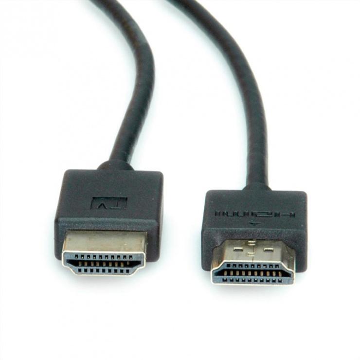 Imagine Cablu HDMI Ultra HD (UHD-1) activ T-T Negru 1.5m, Roline 11.04.5911-2