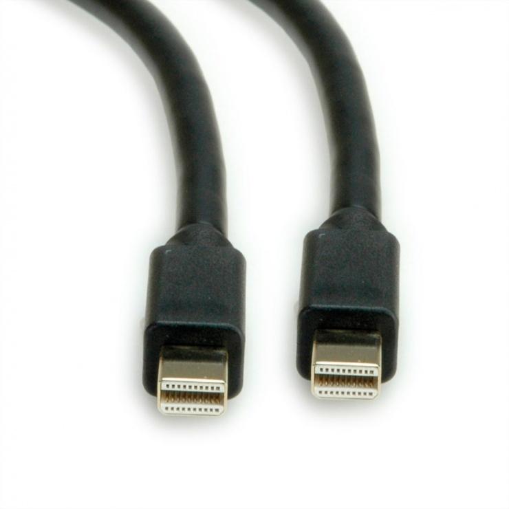 Imagine Cablu Mini Displayport la Mini Displayport v1.4 8K T-T 2m negru, Roline 11.04.5818-1
