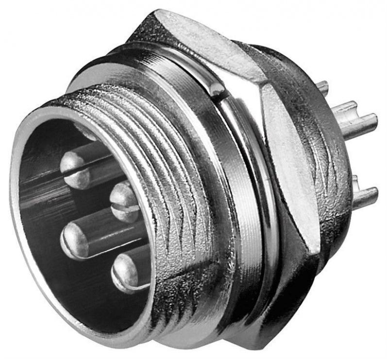 Imagine Conector XLR 4 pini tata montare panou, Goobay 11232