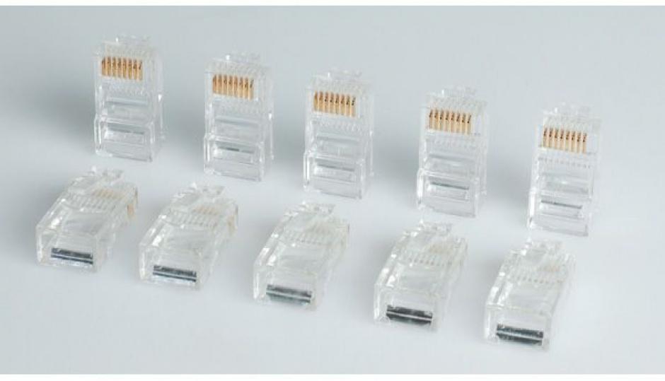 Imagine Set 10 buc conectori RJ45 UTP cat.5, Roline 12.01.1087-2